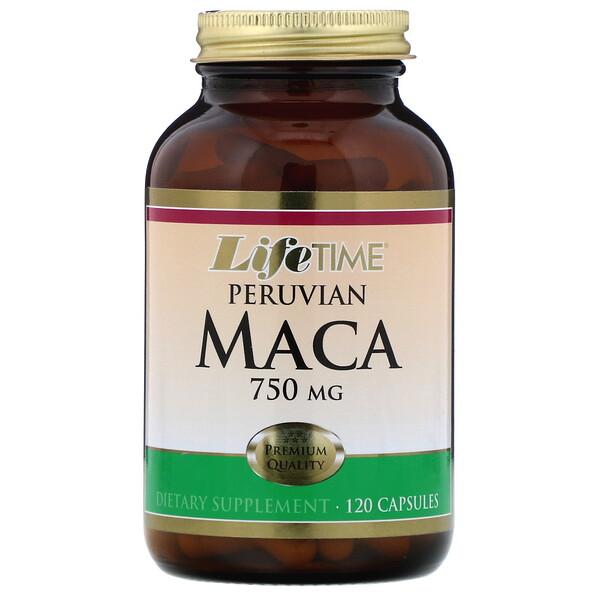 LifeTime Vitamins, Перуанская мака, 750мг, 120капсул