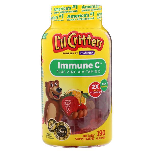 L'il Critters, ImmuneC с цинком и витамином D, 190жевательных конфет