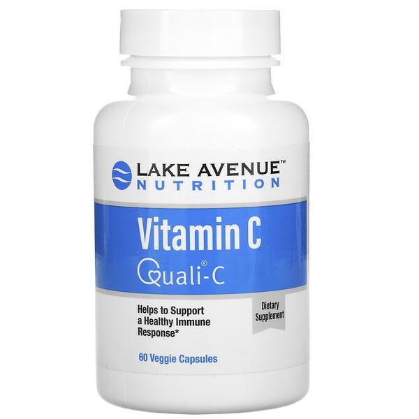 Lake Avenue Nutrition, ВитаминC, с Quali-C, 1000мг, 60вегетарианских капсул