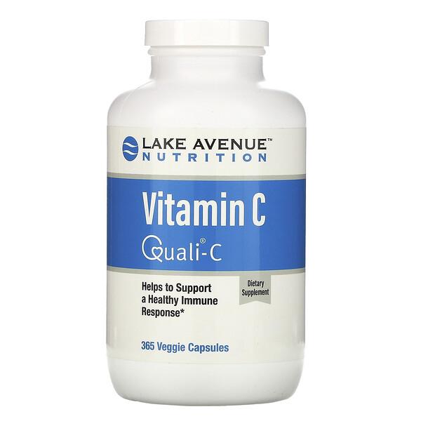 Витамин С, Quali-C, 1000 мг, 365 растительных капсул