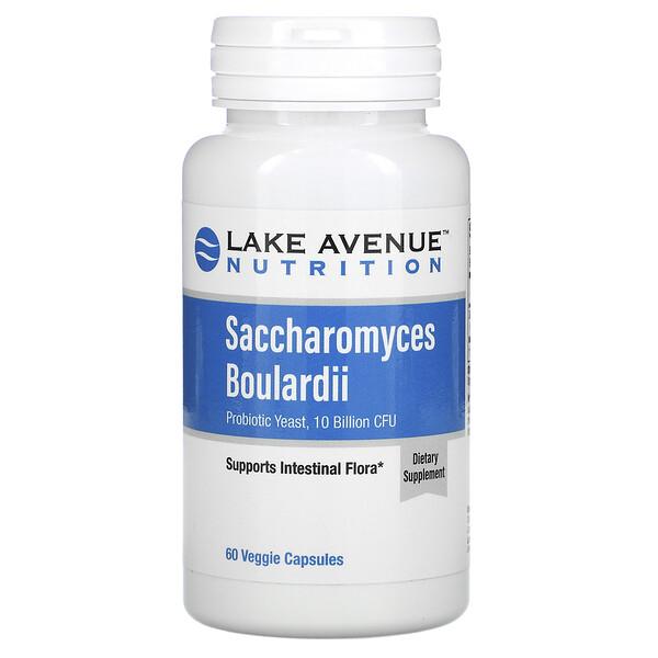 Lake Avenue Nutrition, сахаромицеты Буларди, пробиотические дрожжи, 10млрд КОЕ, 60растительных капсул