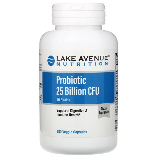 пробиотики, смесь из 10 штаммов, 25 млрд КОЕ, 180 вегетарианских капсул