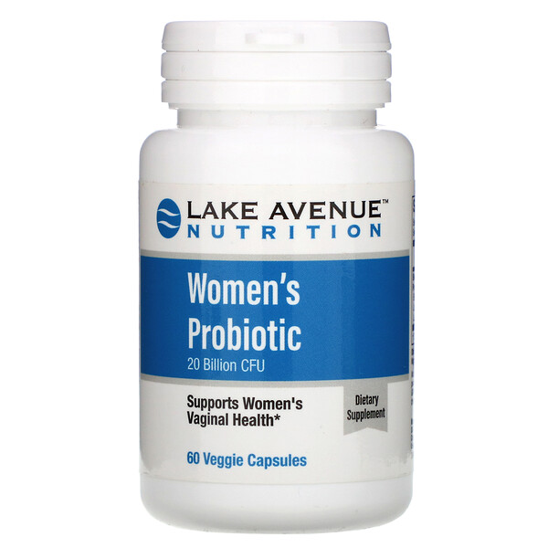 Lake Avenue Nutrition, Пробиотики для женщин, 20млрд КОЕ, 60растительных капсул