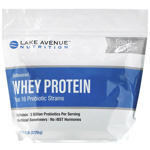 сывороточный протеин с пробиотиками, с нейтральным вкусом, 2270г (5фунтов)