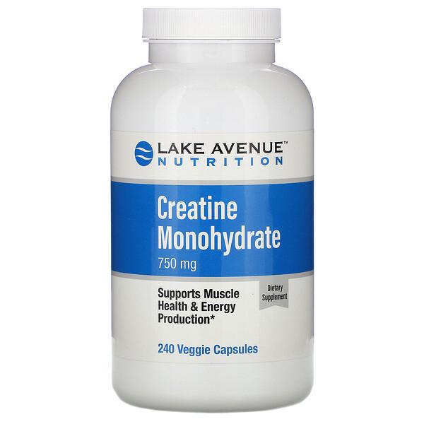 Моногидрат креатина, 750 мг, 240растительных капсул