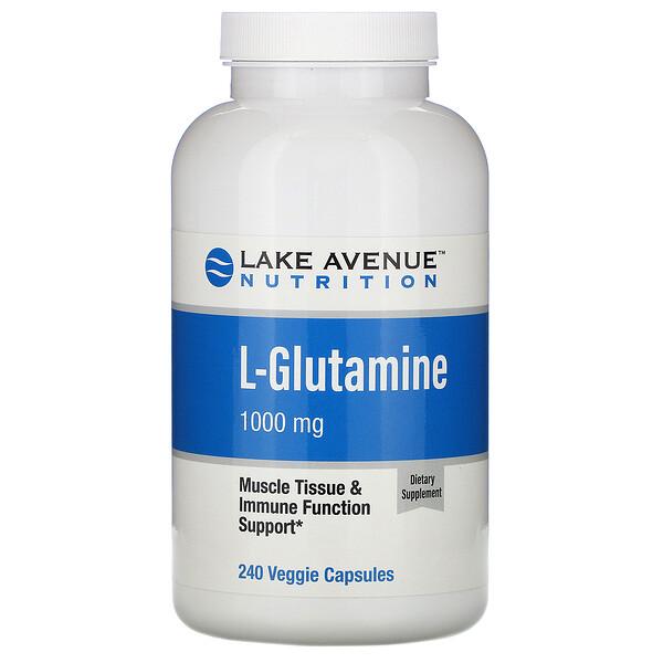 L-глютамин, 1000мг, 240растительных капсул