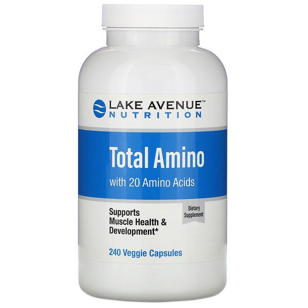 Lake Avenue Nutrition, Аминокислоты, 240растительных капсул