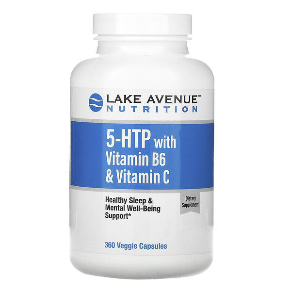 5-гидрокситриптофан с витаминомB6 и витаминомC, 360вегетарианских капсул
