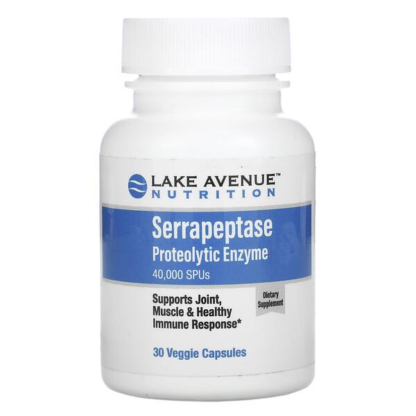 серрапептаза, протеолитический фермент, 40000SPU, 30растительных капсул