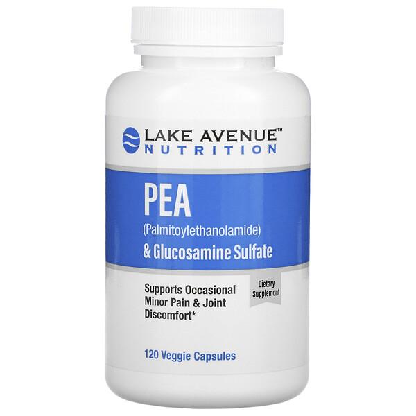 ПЭА (пальмитоилэтаноламид)+сульфат глюкозамина, 600мг+1200мг в 1порции, 120растительных капсул