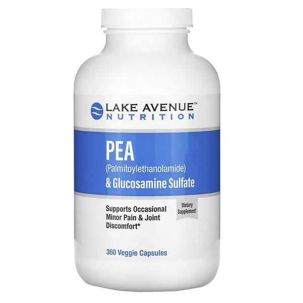 ПЭА (пальмитоилэтаноламид)исульфат глюкозамина, 600мги1200мг в порции, 360растительных капсул