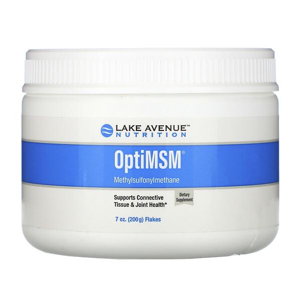 Lake Avenue Nutrition, OptiMSM, хлопья, 200 г (7 унций)