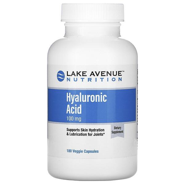 Lake Avenue Nutrition, гиалуроновая кислота, 100мг, 180растительных капсул