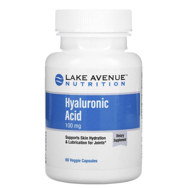 Lake Avenue Nutrition, гиалуроновая кислота, 100мг, 60растительных капсул