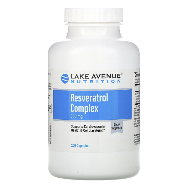 Lake Avenue Nutrition, Комплекс с ресвератролом, 500 мг, 250 капсул