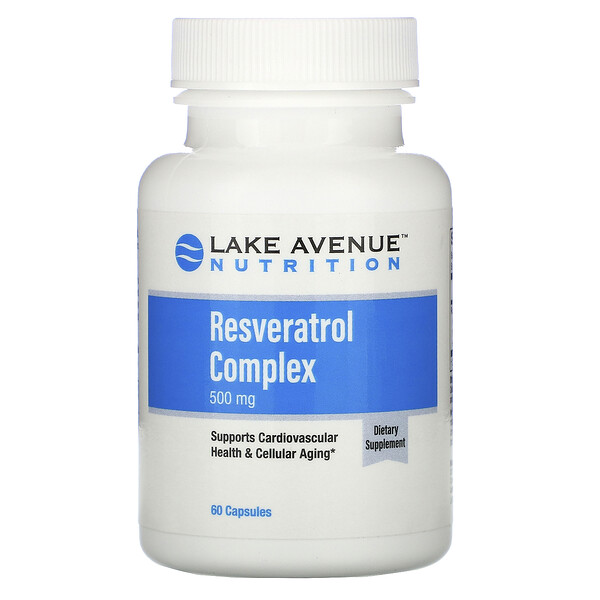 Lake Avenue Nutrition, Комплекс с ресвератролом, 500 мг, 60 капсул