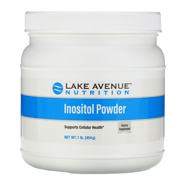 Lake Avenue Nutrition, Порошок инозитола, без добавок, 454г (16унций)