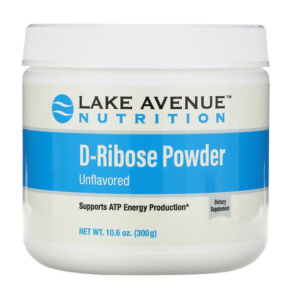 Lake Avenue Nutrition, Порошок D-рибозы, без добавок, 300г (10,6унции)