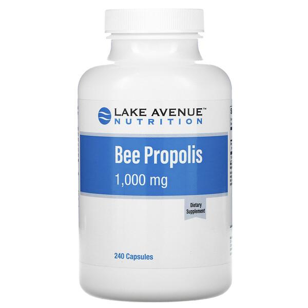 Lake Avenue Nutrition, Прополис, экстракт 5:1, 1000 мг, 240 растительных капсул
