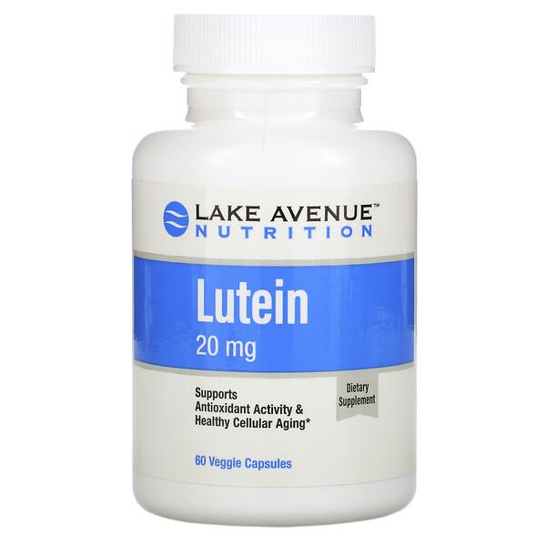 лютеин, 20мг, 60растительных капсул