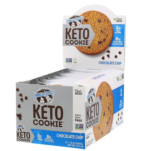 KETO COOKIE, Chocolate Chip, 12 Cookies, 1.6 oz (45 g) Each