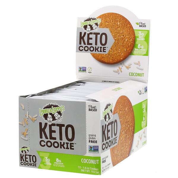 Lenny & Larry's, KETO COOKIE, Coconut, 12 Cookies, 1.6 oz (45 g) Each