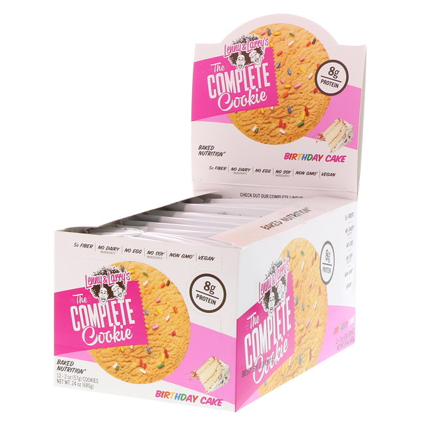 Lenny & Larry's, The COMPLETE Cookie, Birthday Cake, 12 Cookies, 2 oz (57 g) Each (Discontinued Item)