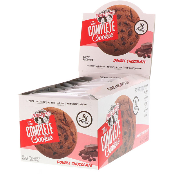 The COMPLETE Cookie, Double Chocolate, 12 Cookies, 2 oz (57 g) Each