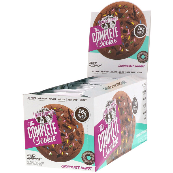 The COMPLETE Cookie, Chocolate Donut, 12 Cookies, 4 oz (113 g) Each