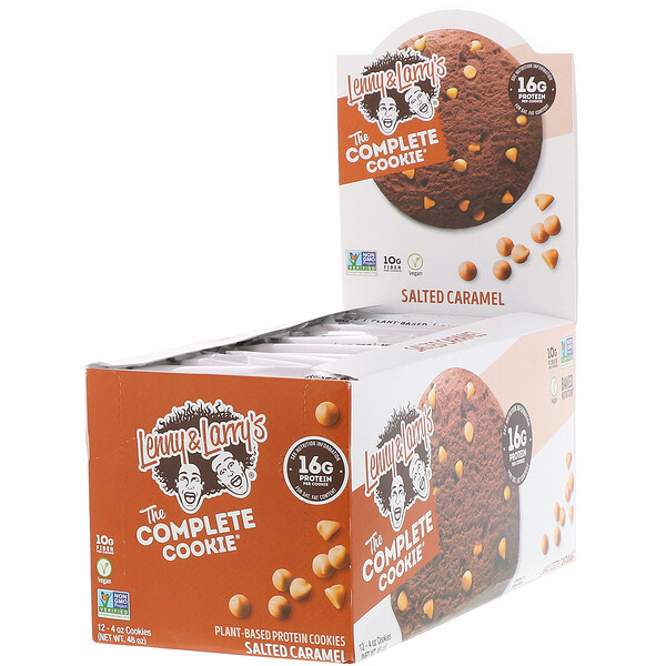 The COMPLETE Cookie, Salted Caramel, 12 Cookies, 4 oz (113 g) Each
