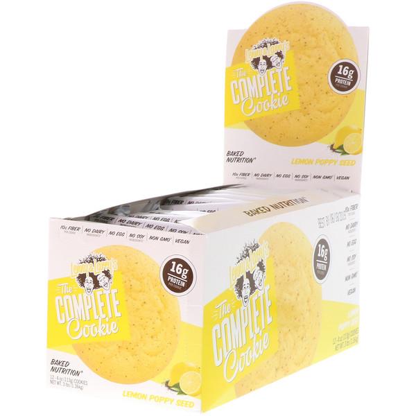 The COMPLETE Cookie, Lemon Poppy Seed, 12 Cookies, 4 oz (113 g) Each