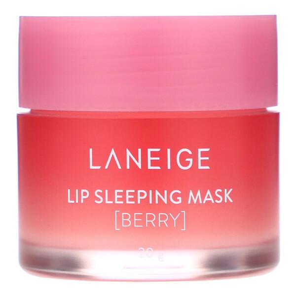 Lip Sleeping Mask, ночная маска для губ, ягодная, 20г