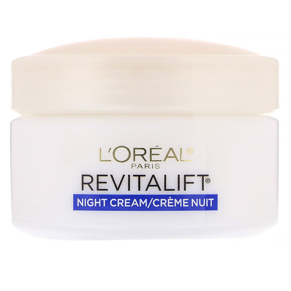 L'Oreal, Revitalift Anti-Wrinkle + Firming, ночное увлажняющее средство, 48 г