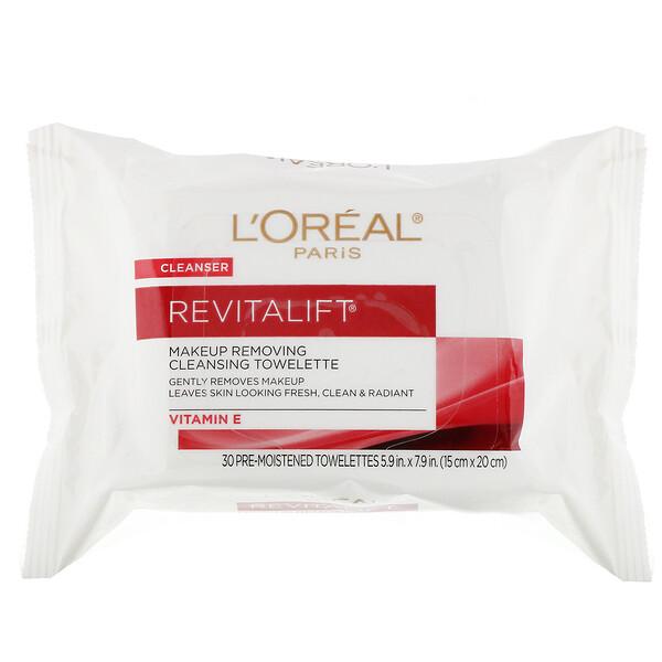Очищающие салфетки для снятия макияжа Revitalift, 30влажных салфеток