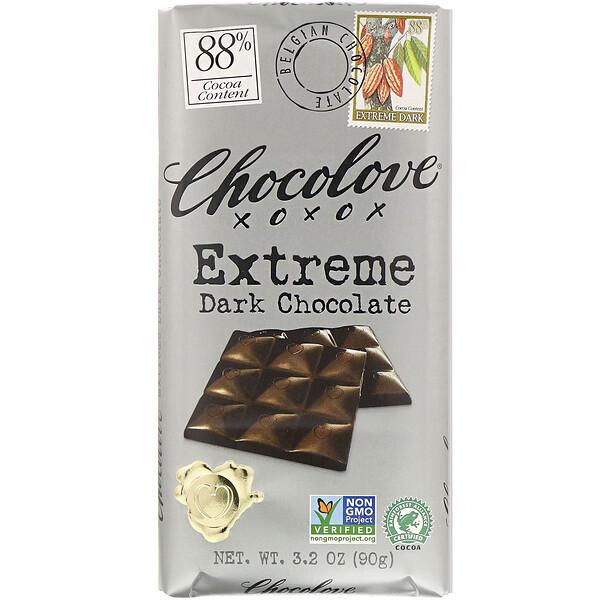Chocolove, Экстрачерный шоколад, 88% какао, 90г (3,2унции)