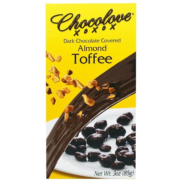 Chocolove, Миндальный ирис, покрытый черным шоколадом, 3 унции (85 г) (Discontinued Item)