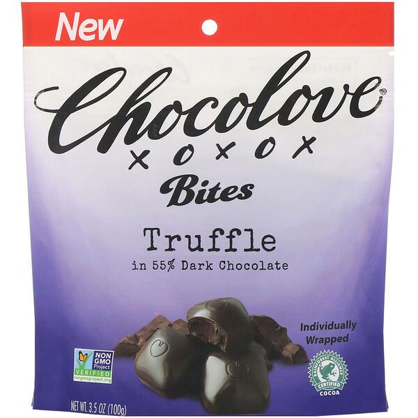 Bites, Truffle in 55% Dark Chocolate, 3.5 oz (100 g)
