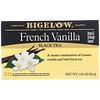 Bigelow, Черный чай с французской ванилью, 20 чайных пакетиков, 1,28 унций (36 г)