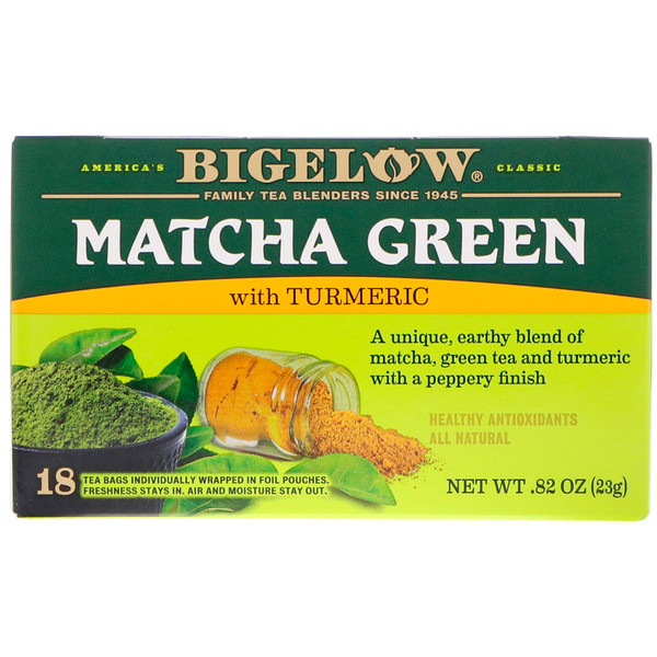 Bigelow, Matcha Green Tea with Turmeric, .82 oz (23 g) (Discontinued Item)
