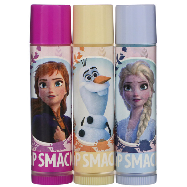 Frozen II, Lip Balm, Trio Pack, 3 Pieces, 0.42 oz (12.0 g)