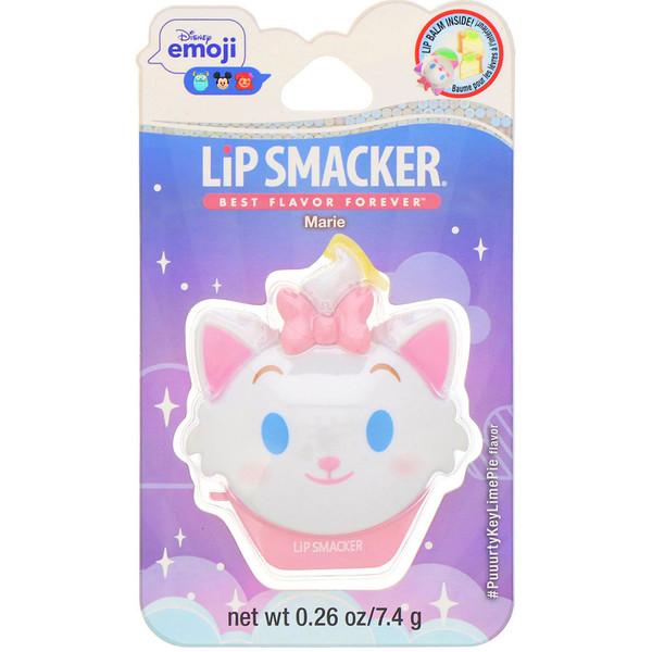 Lip Smacker, Disney Emoji, Marie, бальзам для губ, с ароматом лаймового пирога, 7,4г