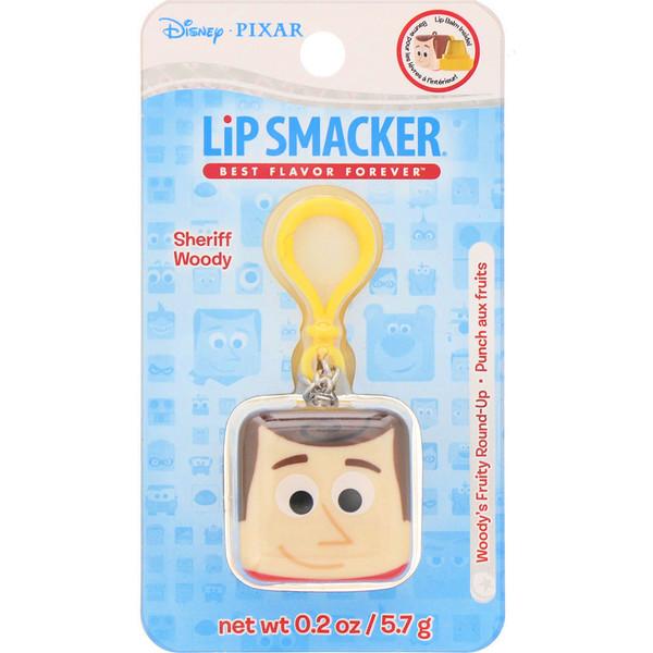 Lip Smacker, Бальзам для губ в кубике Pixar, Sheriff Woody, фруктовый, 5,7г