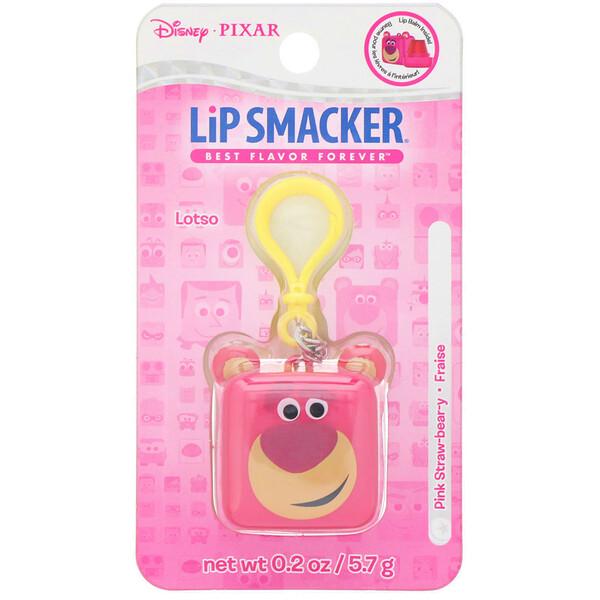 Lip Smacker, Бальзам для губ в кубике Pixar, Lotso, клубничный, 5,7г