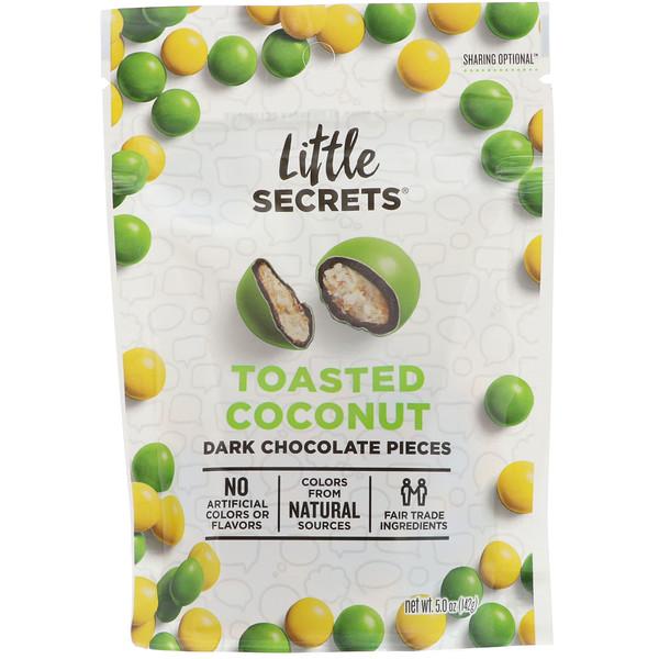 Little Secrets, Кусочки темного шоколада, обжаренный кокос, 5 унц. (142 г)