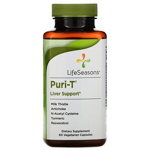 LifeSeasons, Puri-T, 60 Vegetarian Capsules'
