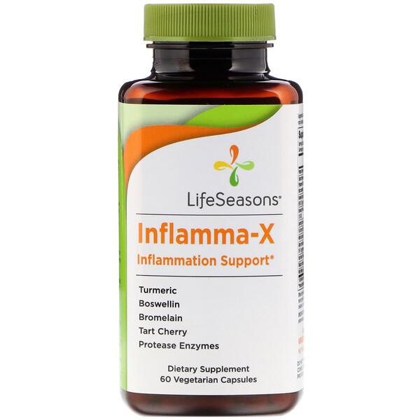 Inflamma-X, поддержка при воспалении, 60 вегетарианских капсул