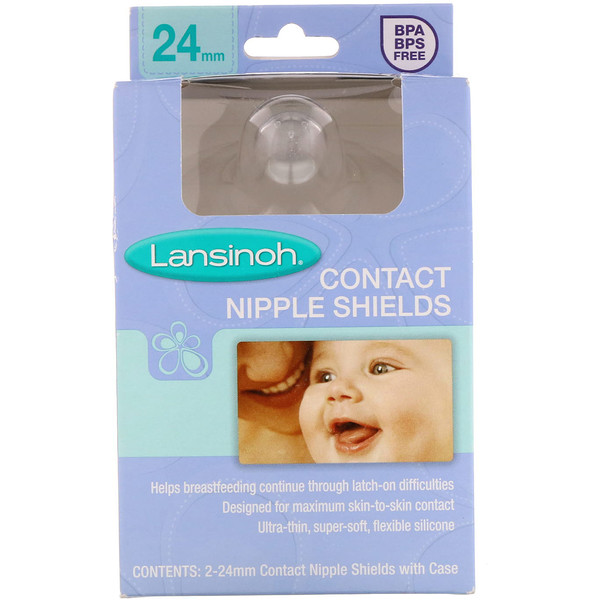 Contact Nipple Shields with Case, 24 mm, 2 Pack