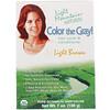 Light Mountain, Color the Gray! Натуральная краска для волос, светлый коричневый 7 унции (198 г)