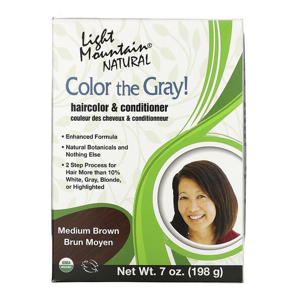 Color the Gray! Натуральная краска для волос, средний коричневый 7 унции (198 г)