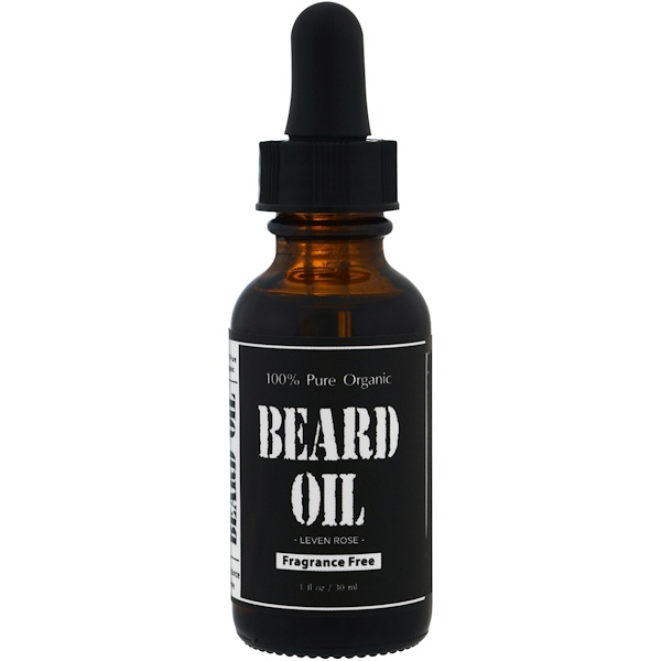 Leven Rose, 100% чистое масло для бороды органического происхождения, не содержащее ароматизаторов, 30 мл (1 унция) (Discontinued Item)